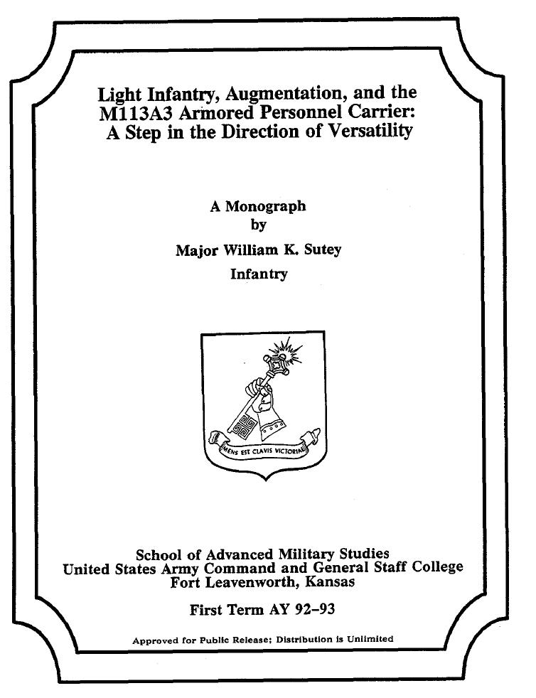 Military service schools masters thesis