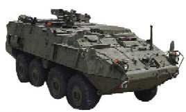 Canadian LAV-III 8x8 armored car the U.S. Army wants to buy so it can run over mines like the BTR depicted here